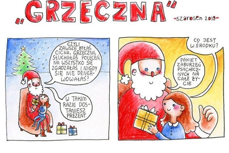 Mikołaj i grzeczne dziecko